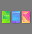 booklet design layouts set vector image vector image