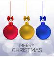 chrismtas card with christmas balls vector image vector image
