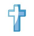 christian cross icon vector image vector image