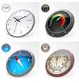 Clocks and Compass vector image vector image