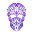 color neon of a sugar skull th vector image vector image