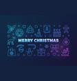 colorful merry christmas horizontal vector image