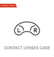 contact lenses case icon vector image