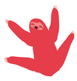 Cute red sloth vector image vector image