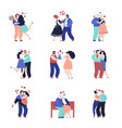 dating characters adult happy couple people in vector image