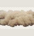 desert sandy dust on transparent vector image