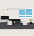 design of room with modern furniture vector image vector image