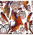 dream catcher boho style seamless pattern vector image vector image