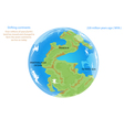 Drifting continents vector image vector image