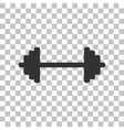 Dumbbell weights sign Dark gray icon on vector image vector image