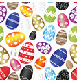 easter eggs color design with decoration pattern vector image vector image