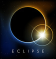 Eclipse with lens flare vector image vector image