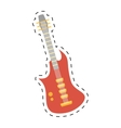 electric guitar bass instrument icon dotted line vector image