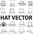 fashion hat vector image vector image