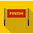 Finish line icon simple style vector image vector image