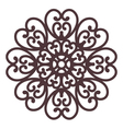 floral filigree on background vector image vector image