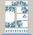 forget me not set with visitcards and greeting vector image vector image