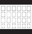 frame set decorative ornamental frames with vector image