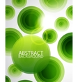 Green circles background vector image