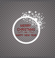 happy new year merry christmas greeting card vector image vector image