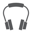 headphones glyph icon earphone and music vector image vector image