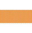 honeycomb background of geometric hexagons vector image vector image
