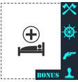 hospital icon flat vector image