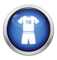 Icon of football uniform vector image