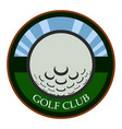 isolated golf emblem vector image vector image