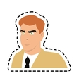 Isolated inspector man cartoon design vector image vector image