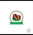 logo coffee beans coffee logo for a coffee shop vector image vector image