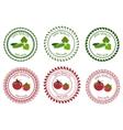 Logo Design Element vegetables packing vector image vector image