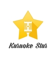 Logo star karaoke vector image