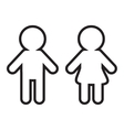 Man and Woman contour line icon Restroom symbol vector image vector image
