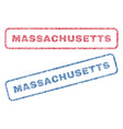 massachusetts textile stamps vector image vector image