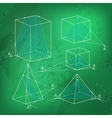 Math picture - sections of polyhedra Geometry vector image