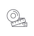 measurement of the figure line icon concept vector image vector image