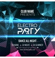 Modern Electro Party Template Dance Party Flyer vector image vector image