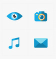 modern flat social icons set on white vector image vector image