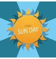modern International Day of the Sun vector image