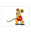 Mouse cartoon vector image vector image