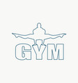 muscular man posing on gym word vector image vector image