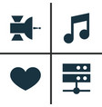 music icons set collection of musical note vector image