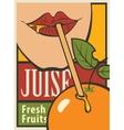 orange of fresh juice vector image vector image