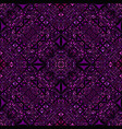 purple repeating kaleidoscope pattern background vector image vector image