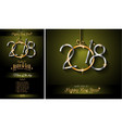 restaurant menu template for 2018 new year dinners vector image vector image
