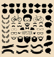 set dress up with different men hipster vector image vector image