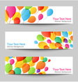 set holiday banners with colorful balloons vector image vector image