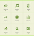 set of 9 editable multimedia icons includes vector image vector image