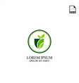 simple concept logo design agriculture technology vector image vector image